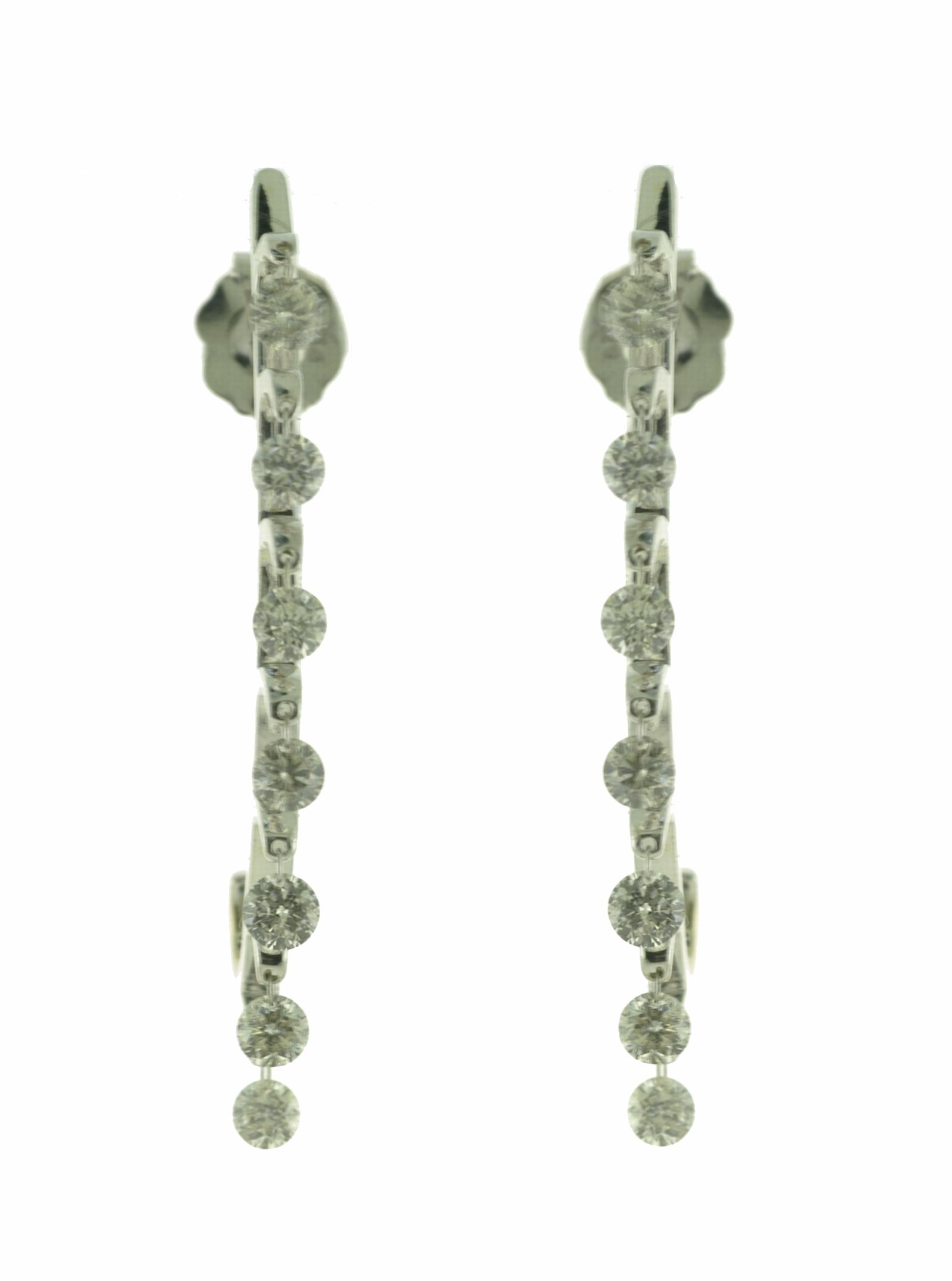 1ctw Floating Diamond Earrings