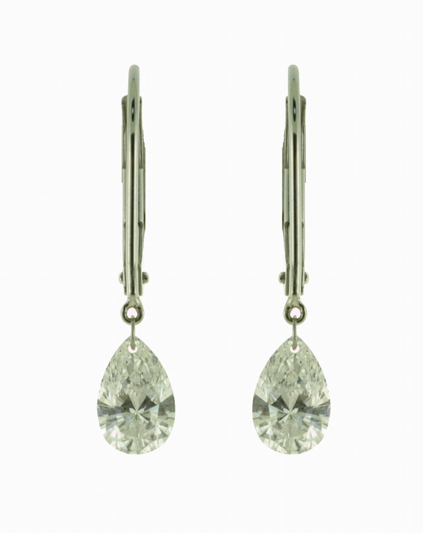 Floating Diamond Earrings 1ctw