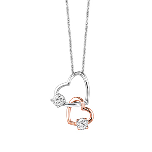 One love two tone diamond pendant 12cttw 18 chain sbt imports one love two tone diamond pendant 12cttw 18 chain mozeypictures Images