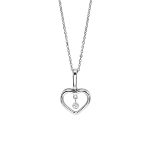 Sterling silver floating diamond heart pendant 18 chain sbt imports sterling silver floating diamond heart pendant 18 chain aloadofball Gallery