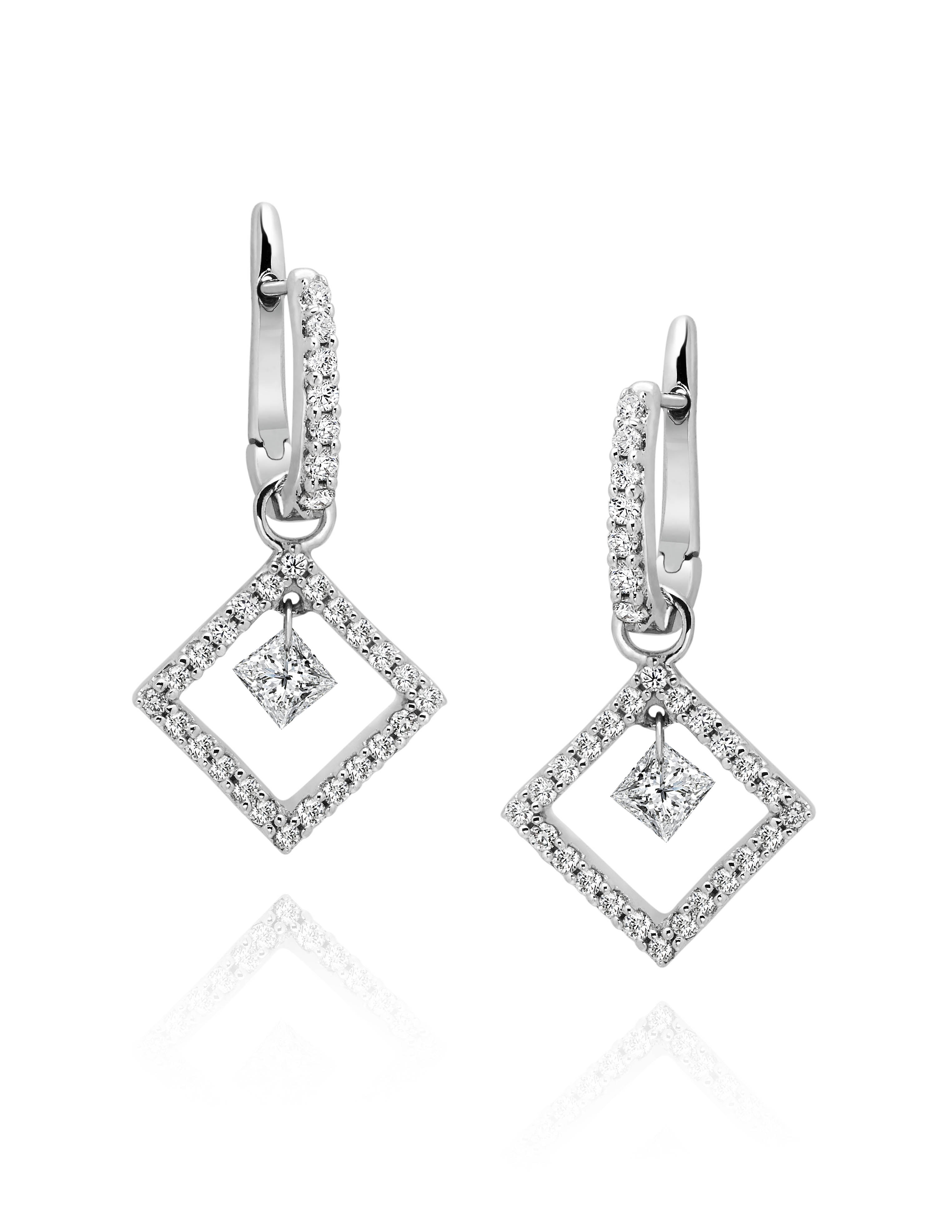 Floating Diamond Earrings 5 8cttw Sbt Imports