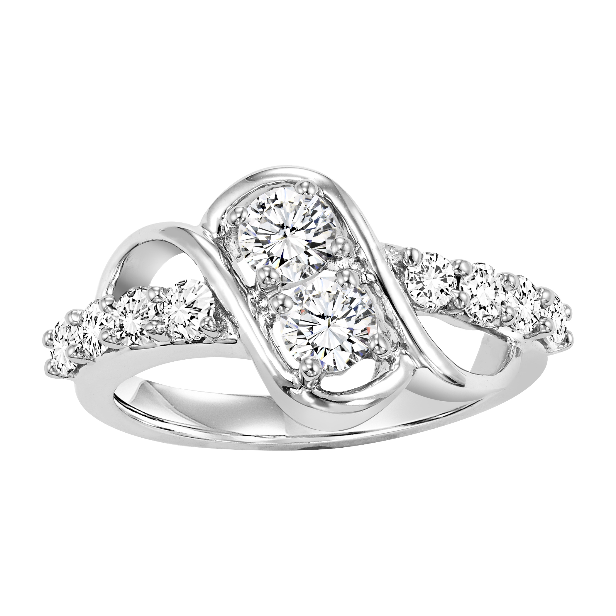 diamond two engagement amouria double bypass ring rings stone